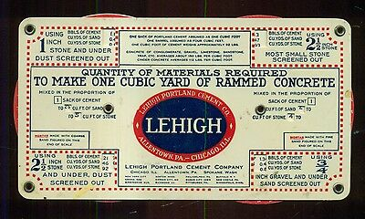 1920 Lehigh Portland Cement Co. Celluloid Lumber/Concrete Double Wheel Guide