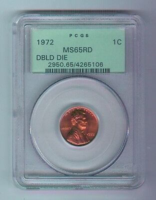 1972-P Lincoln Memorial Cent - Double Die - Copper - Pcgs - Ms65Rd