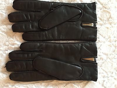 NWOT Isotoner Mens Brown Leather Lined Beige Thinsulate Gloves Sz M
