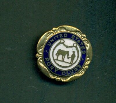 Vintage United States Pony Clubs Enameled Pin