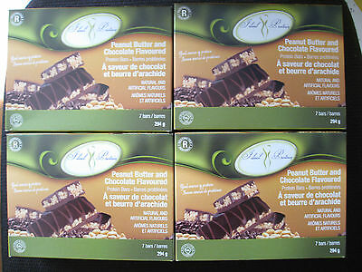 Ideal Protein Bars Peanut Butter And  Chocolate Flavoured(4 Boxes Of 7)