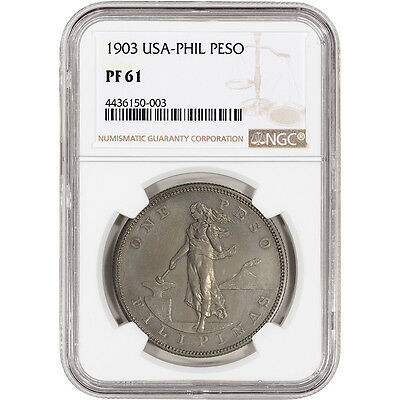 1903 USA Philippine Silver Peso Proof - NGC PF61