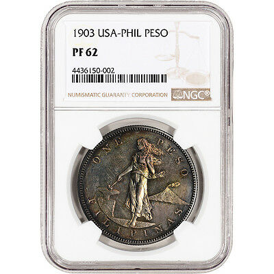 1903 USA Philippine Silver Peso Proof - NGC PF62