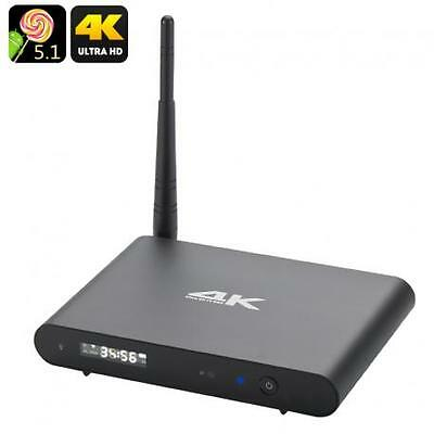 Octa Core Android 5.1 Wi-Fi TV Box - Ultra HD 4K Resolutions, 2.4GHz + 5GHz Wi-F