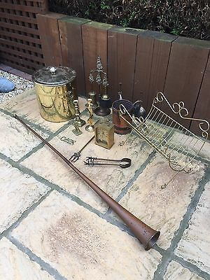 Job Lot Of Brass And Copper Items