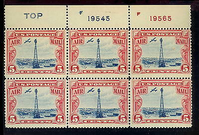 Scott #C11 Airmail Beacon - P#B6 TOP and Two Numbers - Mint VF Never Hinged