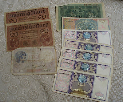 Small Lot Of Mixed Country Bank Notes