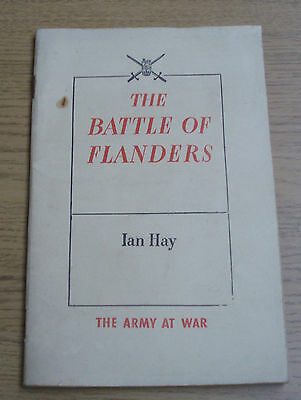 The Battle Of Flanders By Ian Hay