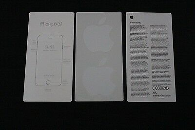 Genuine Apple iPhone 6s Start Guide and Genuine Apple Logo Stickers