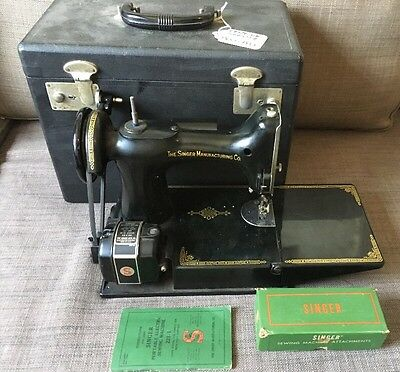 Singer Featherweight feather light Sewing Machine With Case Century Of Service