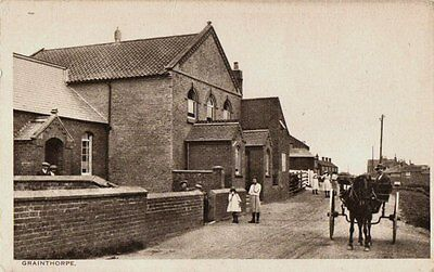 Grainthorpe (nr. Louth)  - School and Chapel on Left of View