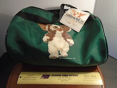 Gremlins Gizmo movie New old stock duffel bag Alco Products Holiday movie