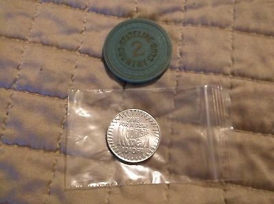 "Mountain Dew ""Dime For A Dew"" Coin - Rare vintage Piece - 1980's  Free Shipping!"
