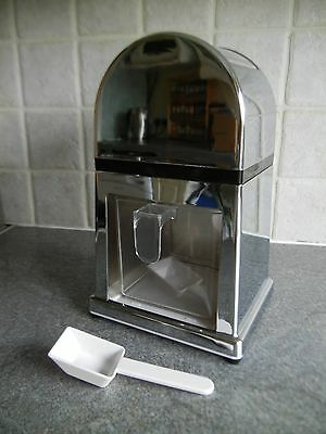 Silver Ice Crusher Manual Grind Operation No Power Required ** EXC - UNUSED? **​