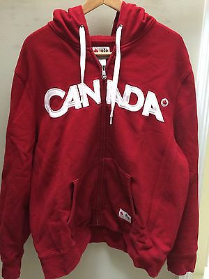 2010 Vancouver Winter Olympics Canada HBC Hoody Sweater Size Large