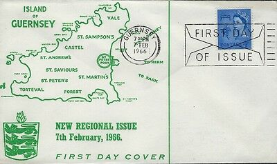 GB :1966 GUERNSEY 4d on illustrated FDC-GUERNSEY FDI  slogan