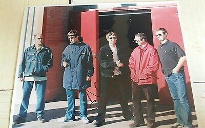 """Oasis """"Be Here Now"""" tour picture SIGNED by Noel Gallagher"""