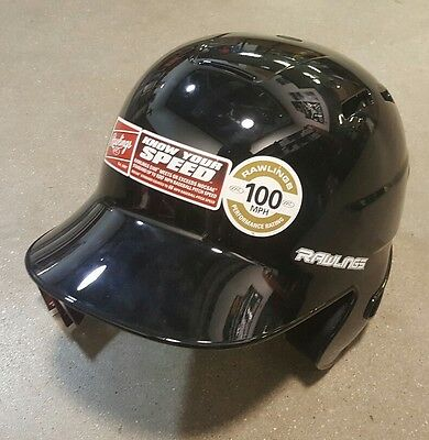Brand New Rawlings S100 Batting Helmet Black Various Sizes Fitted Pro Style