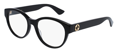 *NEW AUTHENTIC* GUCCI 0039O 001 BLACK EYEGLASS FRAME, SIZE 52mm