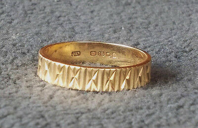 Wedding Ring Vintage Bought 1975 18 Carat Gold Very Good Condition Hardly Used