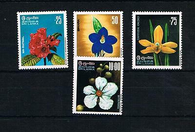 sri lanka 1976 flowers u/m set