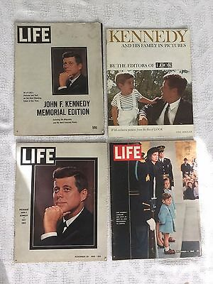 VINTAGE LIFE / LOOK MAGAZINE LOT of 4 The Kennedy's