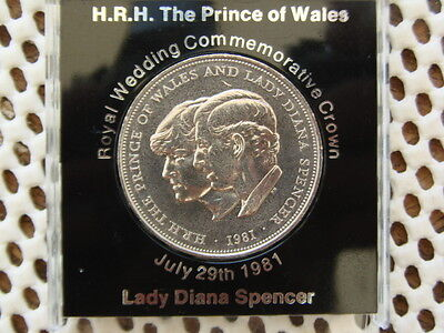 Elizabeth II.  Charles/Diana Royal Wedding 1981 Crown in Presentation Case.