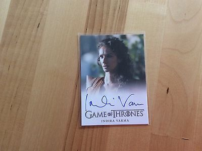 Game of thrones autograph card Indira Varma