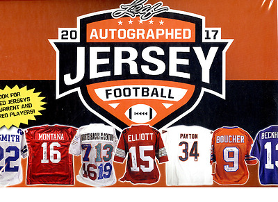 2017 Leaf Autographed Jersey Edition Football - 4 Box Lot ( 1/2 Case )