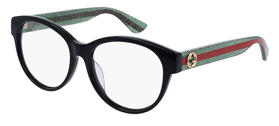 *NEW AUTHENTIC* GUCCI 0039OA 001 BLACK EYEGLASS FRAME, SIZE 54mm