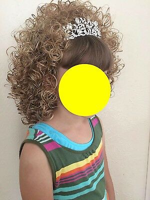 Irish Dance loose curl wig blond