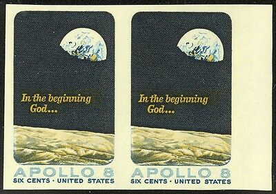 1371PW - 6c Apollo 8 - Horiz Pr - Imperforate  NH - SCARCE Printer's Waste