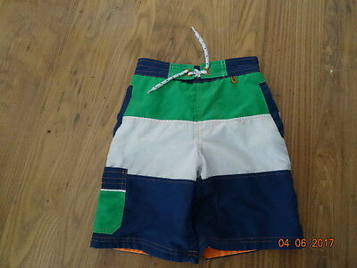 BOYS BLUE, GREEN AND WHITE SHORTS - SWIM SHORTS age 6 years IN VGC