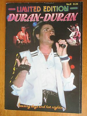 "Duran Duran Limited Edition no. 21 Glossy Magazine 11"" x 8"""