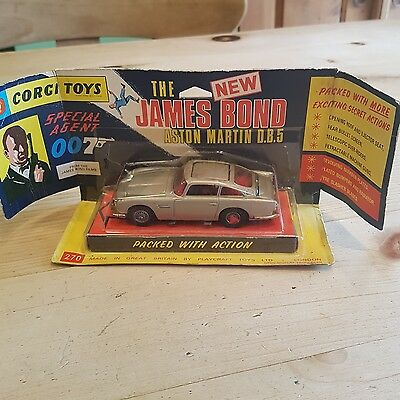 james bond corgi 270 rare winged box