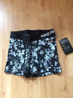 Nike Pro 3 Inch Graphic Sports/Fitness Shorts Ladies Size 10 (S) *BRAND NEW*