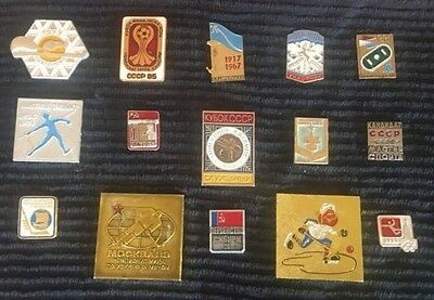 Russian Olympic Pin Badges