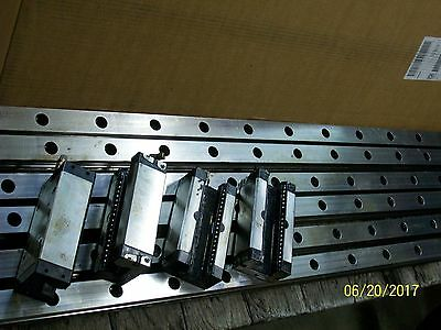 *1 Set* (4) Rexroth R162342420 Linear Bearing Block & 160943448 16000Mm  Rail