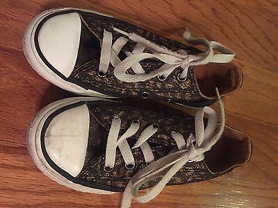 Toddler/kids Girls Converse Tennis Shoes Leopard Size 11