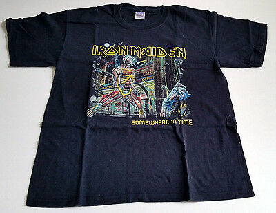 "Iron Maiden ""somewhere In Time "" Usa Tour 1986 /87 T-Shirt Heavy Metal Oop Rare"