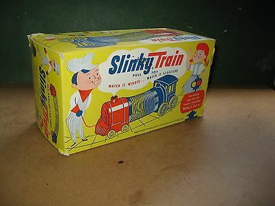 vintage slinky train pull toy BOX ONLY