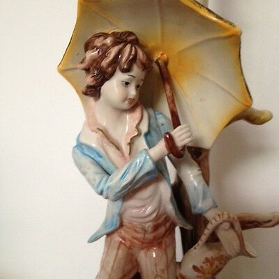Capodimonte Italian Porcelain Figurine Lamp- hand made & painted