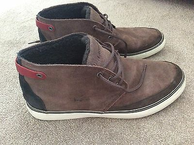Mens Lacoste Suede Leather  Brown Chukka Ankle Boots Mid Top Trainers UK 9