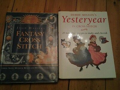 Cross stitch books x 2