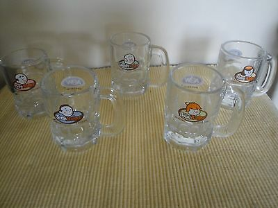 Lot Of 5 Vintage Mini A & W Rootbeer Mugs 4 0Z Canada Special Edition Mama Teen