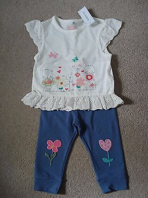 Girls top and leggings age 9-12 months
