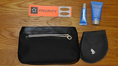 Singapore Airlines First Class Salvatore Ferragamo Men`s Amenity Kit NEU!