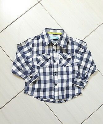Baby Boys Check Shirt Age 18-24 Months