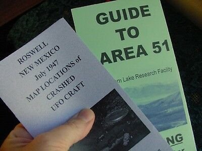 #A-52 TWO MAPS Guides to ROSWELL 1947 UFO CRASH SITE + Area 51 maps alien craft