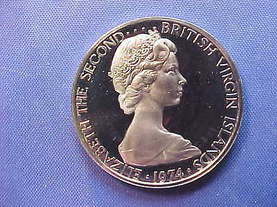British Virgin Islands 1974 25 Cent Proof Coin (Low Mintage)